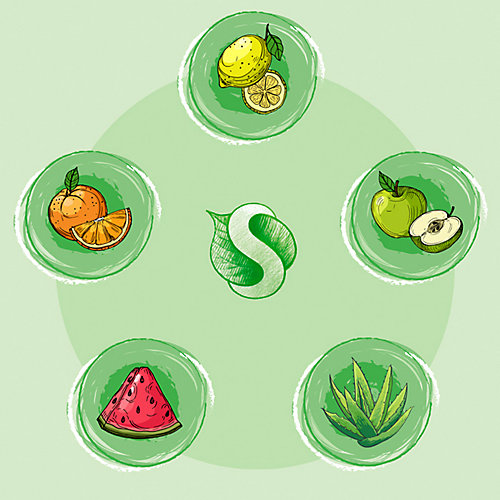 Средство концентрированное для мытья посуды и фруктов Synergetic Яблоко, 1 л