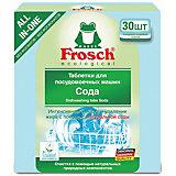 Таблетки для мытья посуды Frosch Сода, 30 шт