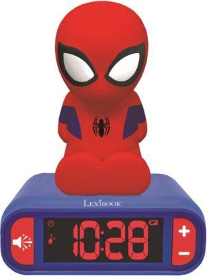 3D Spiderman Design Nachtlicht Digital Radiowecker, Spider-Man