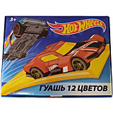 Гуашь Centrum Hot Wheels, 12 цветов