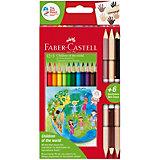 """Набор цветных карандашей Faber-Castell """"Дети мира"""", 18 цветов"""