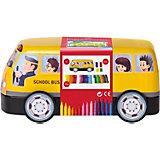 Набор для рисования Faber-Castell Connector school bus, 33 цвета
