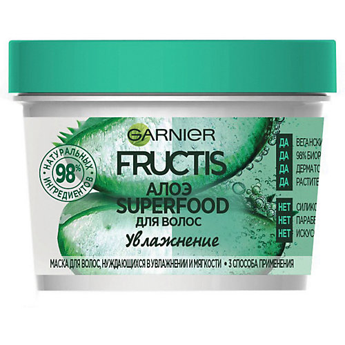 Маска для волос Garnier Fructis Superfood Алоэ, 390 мл