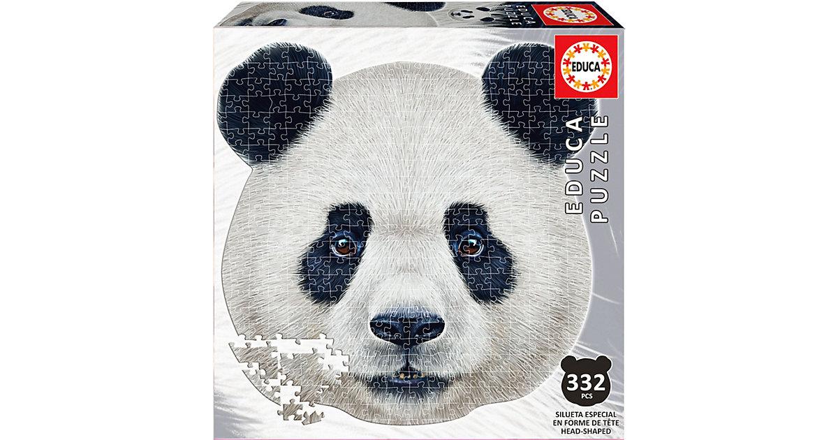 Konturenpuzzle Pandagesicht, 400 Teile