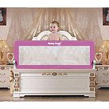 Барьер для кроватки Baby Safe, 120х42 розовый