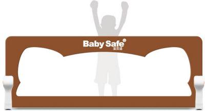 Барьер для кроватки Baby Safe Ушки, 120х42 коричневый — Барьер для кроватки Baby Safe Ушки, 120х42