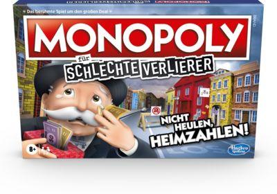Monopoly schlechte Verlierer Brettspiel ab 8 Jahren – Das Spiel, bei dem es sich auszahlt, zu verlieren  Kinder