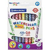Фломастеры двусторонние Brauberg Premium, 20 цветов