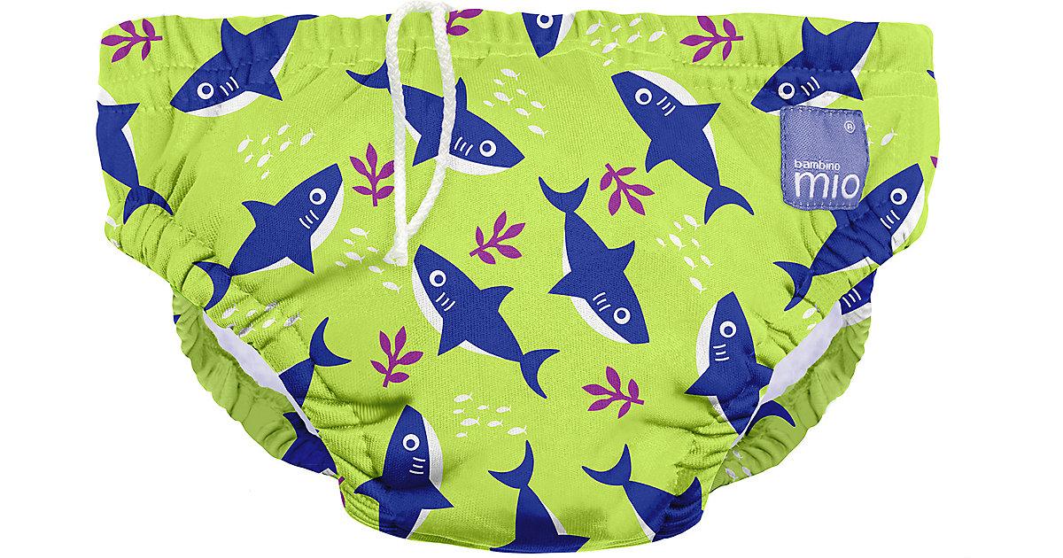 Wiederverwendbare Schwimmwindel, Neon Haifisch, M (6-12 Monate) grün/blau Gr. 68/74