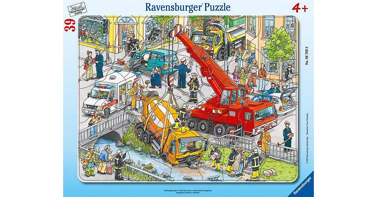 Rahmen-Puzzle, 39 Teile, 32,5x24,5 cm, Rettungseinsatz