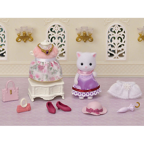 """Персидская кошка Sylvanian Families Series Town """"Модница в городе и ее гардероб"""" от Эпоха Чудес"""