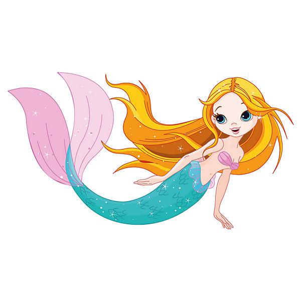 Wandtattoo Meerjungfrau Aus Dem Meer Dekodino Mytoys