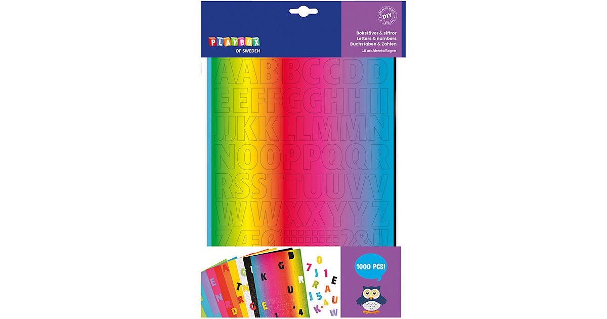 Buchstaben & Zahlen Pappe & Wellpappe, 10 Bogen