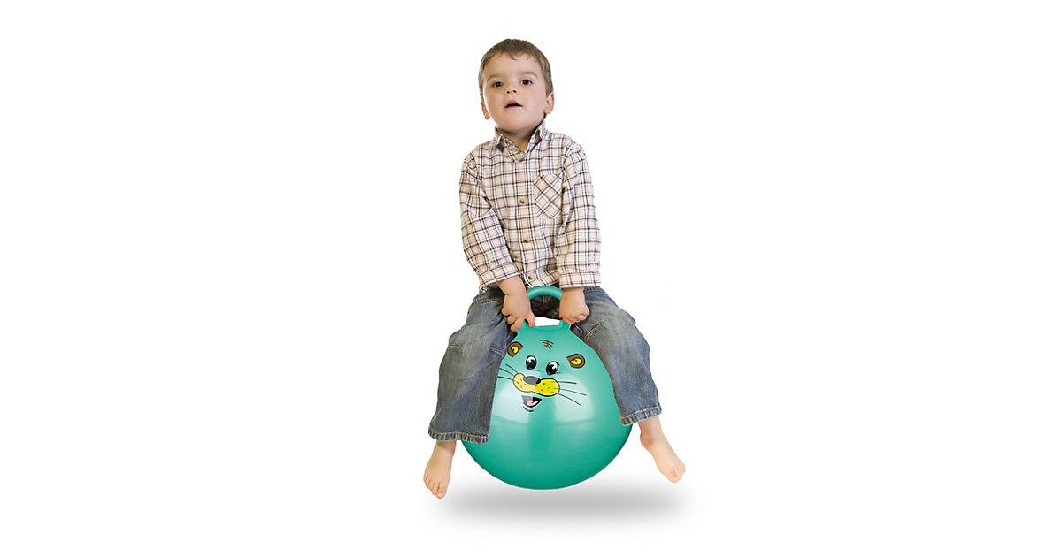 1 x Hüpfball Kinder, Sprungball grün, Skippy Ball klein, Ball 45 cm Durchmesser