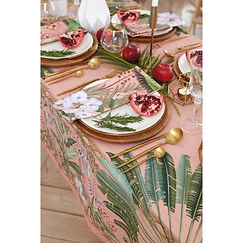 Скатерть Этель Tropical animals, 220х145 см +/-3 см - розовый
