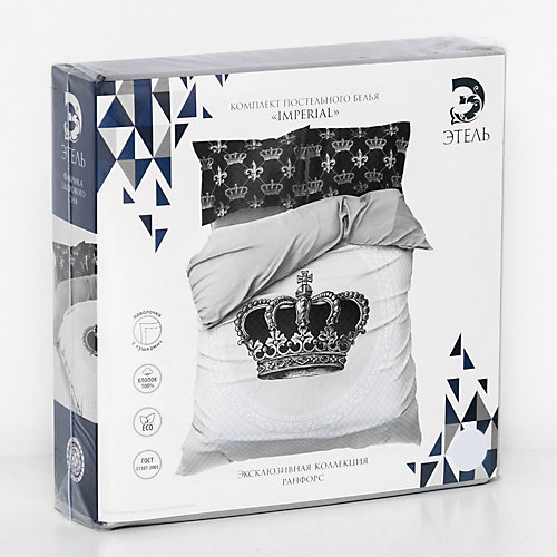 Комплект постельного белья Этель Imperial, евро - белый