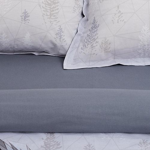 """Комплект постельного белья Этель """"Сова"""", евро - серый"""