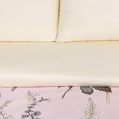 """Комплект постельного белья Этель """"Цветочный этюд"""", евро - бежевый"""