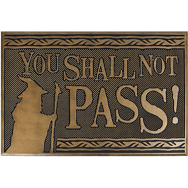 Fussmatte Lord Of The Rings - Shall Not Pass (Rubb