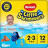 Трусики-подгузники для плавания Huggies Little Swimmers 3-8 кг, 12 шт