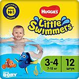 Трусики-подгузники для плавания Huggies Little Swimmers 7-15 кг, 12 шт