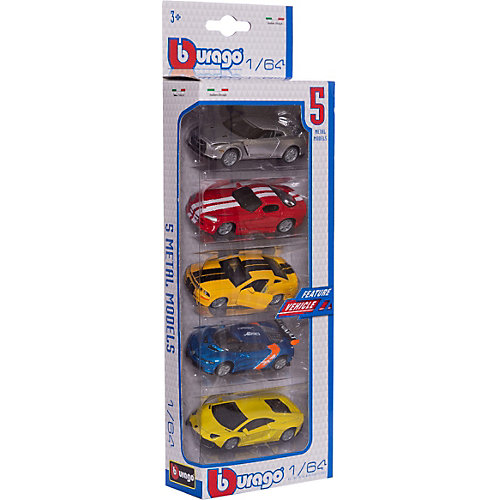 Набор Машинок Bburago Vehicles, 1:64 от Bburago