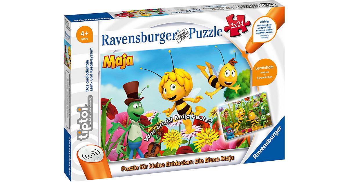 tiptoi® Puzzle kleine Entdecker: Biene Maja (ohne Stift), 2 x 24 Teile  Kinder