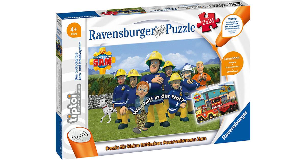 tiptoi® Puzzle kleine Entdecker: Feuerwehrmann Sam (ohne Stift), 2 x 24 Teile  Kleinkinder