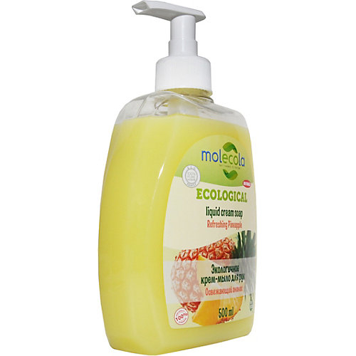 Жидкое мыло для рук Molecola Ананас, 500 мл