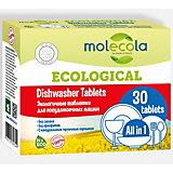 Экологичные таблетки Molecola для посудомоечных машин, 550 гр