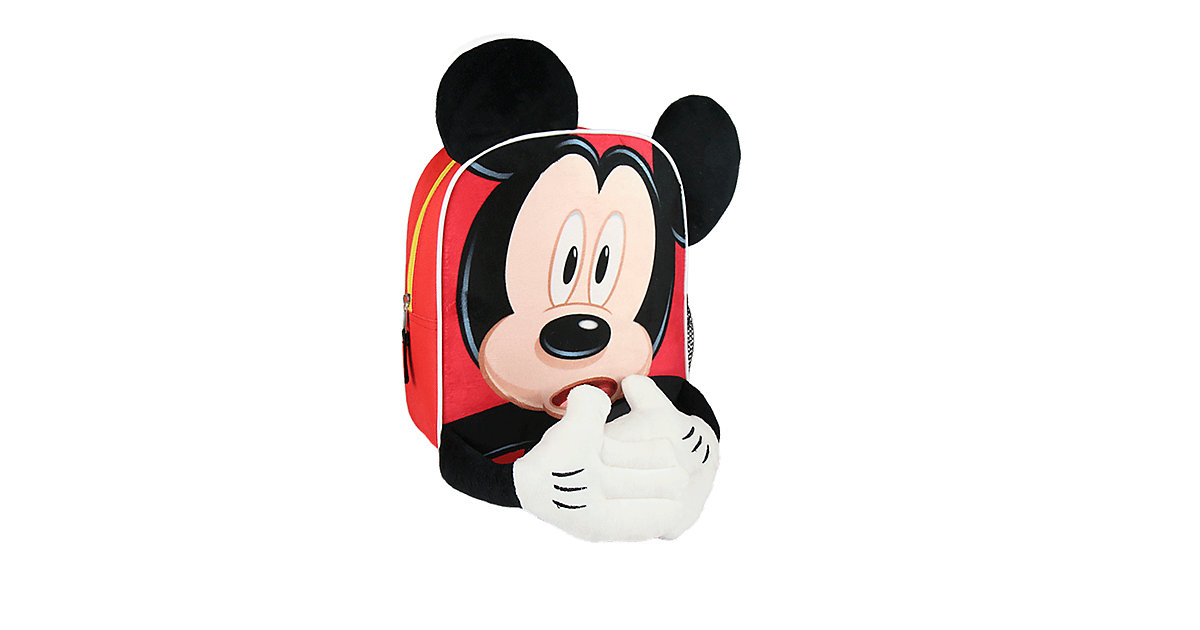3D-Kinderrucksack Mickey Mouse rot
