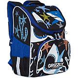 Рюкзак школьный Grizzly с мешком для обуви