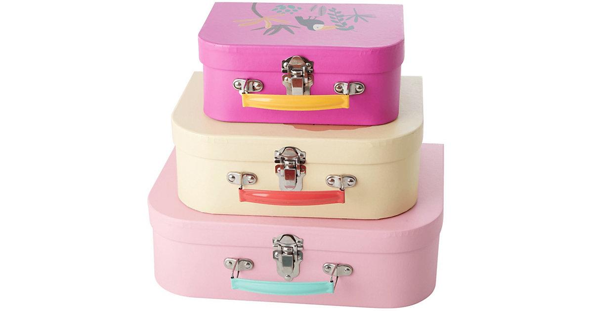 "Image of 3-tlg. Aufbewahrungs-Koffer Set ""Jungle Animals"", Groß: B30xT20,5xH9cm mehrfarbig"