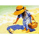 """Набор для раскрашивания по номерам Цветной """"На пляж, за ракушками!"""""""