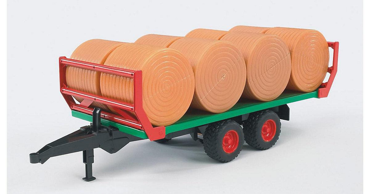 BRUDER 02220 Ballentransportanhänger m. 8 Rundballen