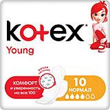 Ультратонкие прокладки Kotex Young Normal, 10 штук