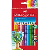 Карандаши цветные Faber-Castell Jumdo Grip, 12 цветов