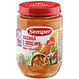 Пюре Semper лазанья с овощами с 18 мес, 12 шт х 190 г