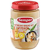 Пюре Semper рагу картофельно-овощное с цыпленком с 12 мес, 12 шт х 190 г