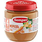 Пюре Semper Морковь с 4 мес, 12 шт х 125 г