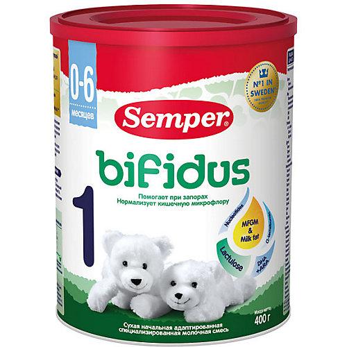 Молочная смесь Semper bifidus 1, с 0 мес, 400 г от Semper