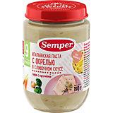 Пюре Semper итальянская паста с форелью в сливочном соусе с 9 мес, 12 шт х 190 г
