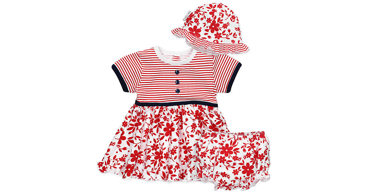 3tlg Set Kleid + Shorts + Mütze Lieblingsstücke Kleider Kleider  weiß Gr. 56 Mädchen Kinder