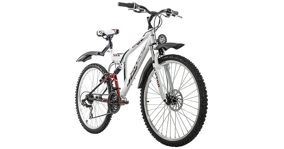 Mountainbike Fully ATB  21 Gänge Zodiac 26 Zoll Mountainbikes, Rahmenhöhe: weiß