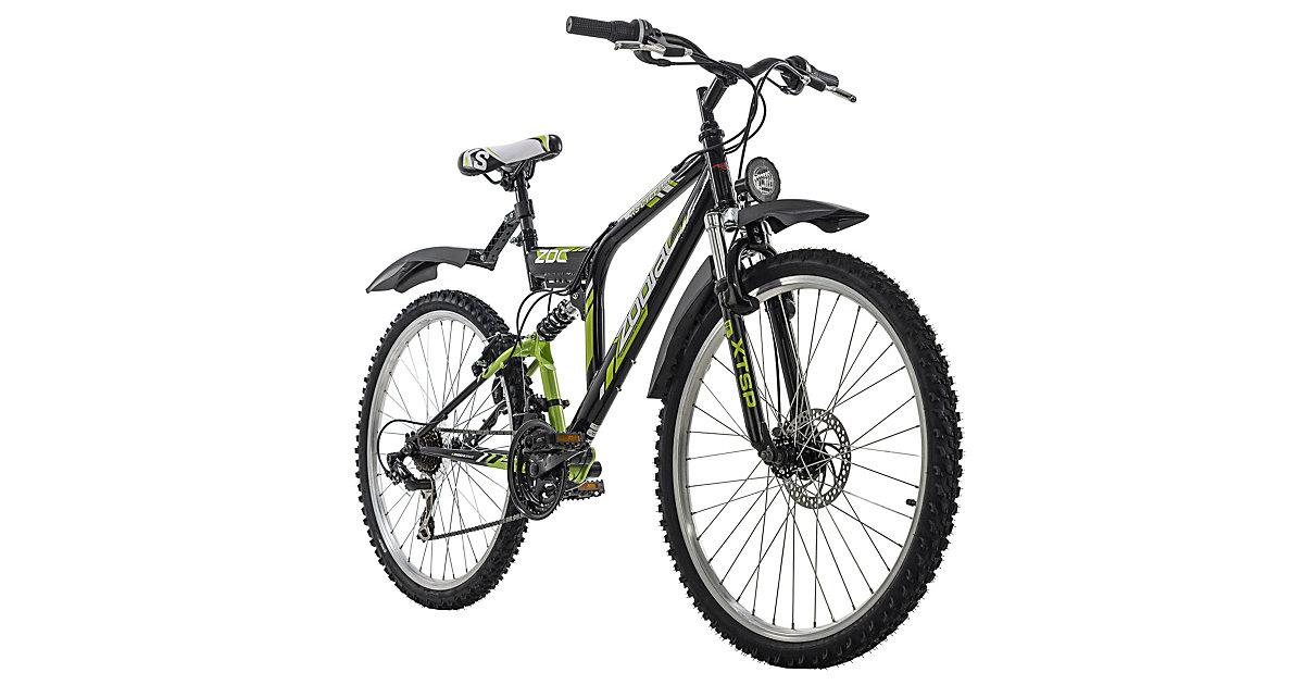 Mountainbike Fully ATB  21 Gänge Zodiac 26 Zoll Mountainbikes, Rahmenhöhe: schwarz