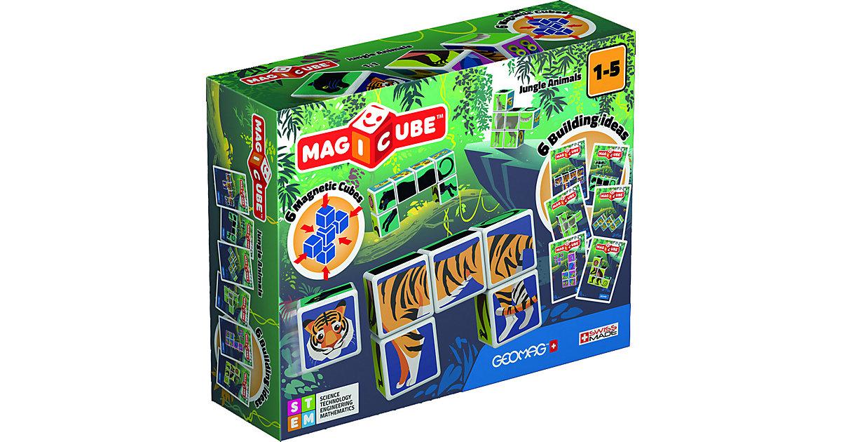 GEOMAG Magicube Jungle Animals mehrfarbig