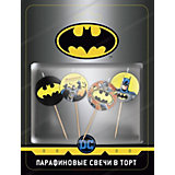 Парафиновые свечи для торта ND Play Batman, 4 шт