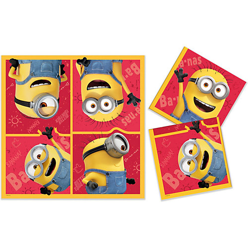 Салфетки бумажные трехслойные ND Play Minions 2, 12 шт - разноцветный от ND Play