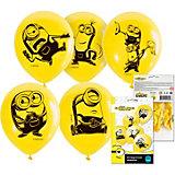 Набор воздушных шаров ND Play Миньоны 2, 5 шт