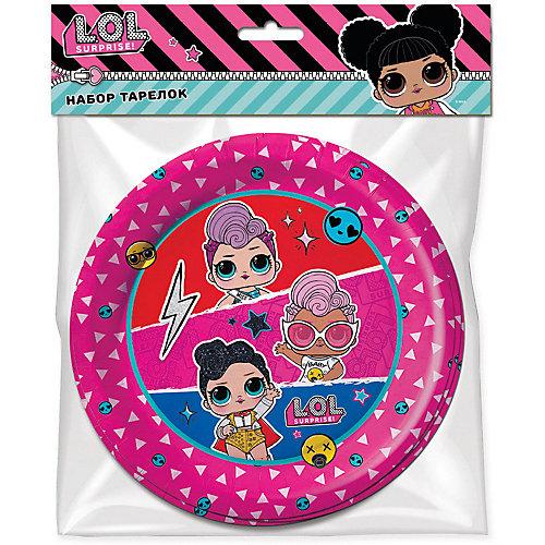 Набор бумажных тарелок ND Play LOL, 6 шт - разноцветный от ND Play